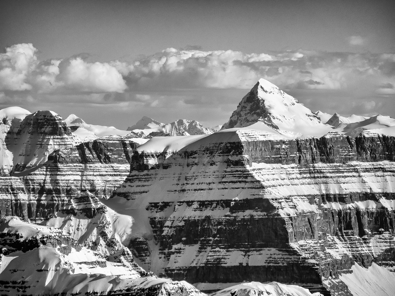 Mount Forbes is a very gorgeous peak and also very high - the highest summit in Banff National Park at 11,852'.