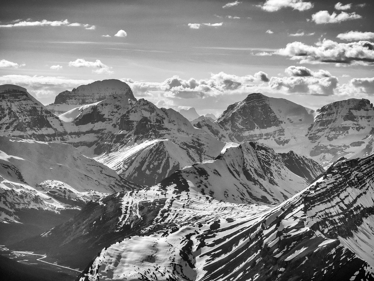 Mounts Alberta, Engelhard, Woolley and Diadem (L to R).