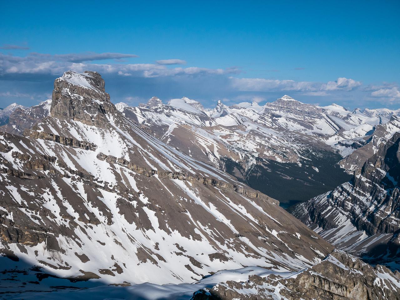 Tuft Peak looks fierce from this angle.