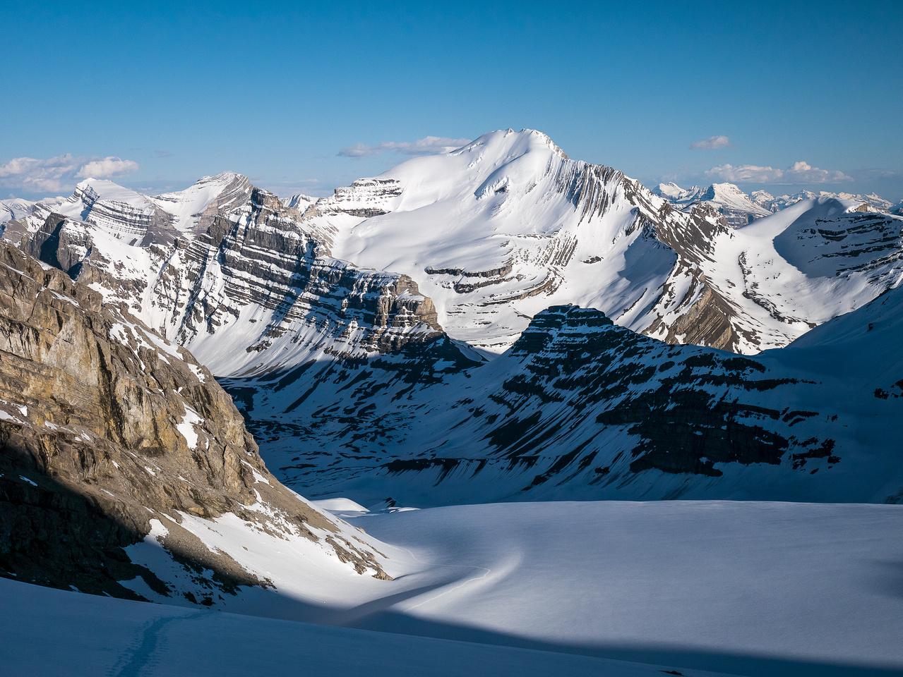 Nice shadows on the Huntington Glacier.