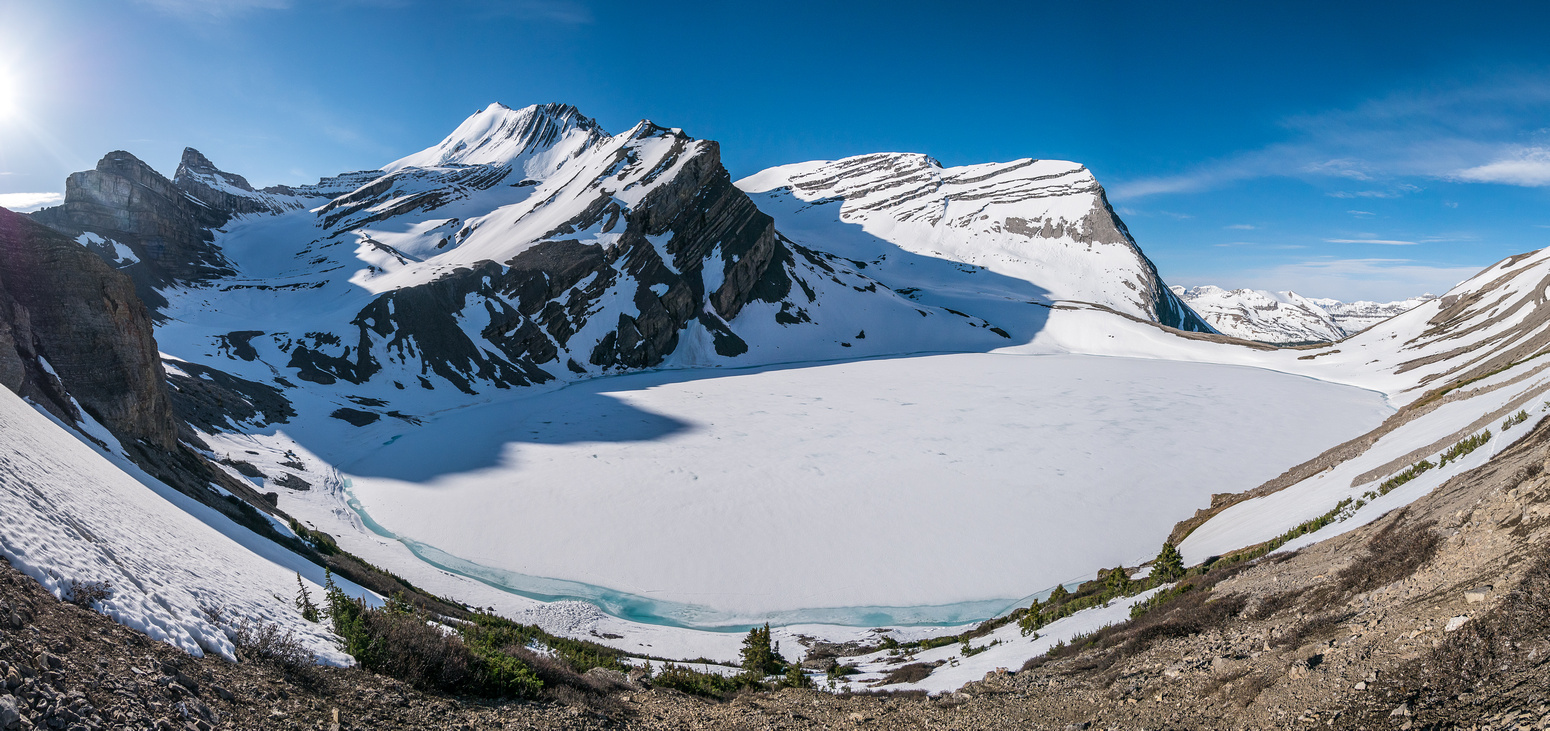 A lovely panorama of Coleman Lake.