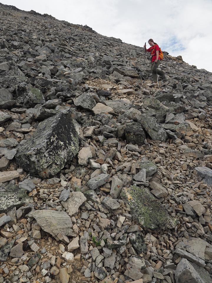 Descending Mount Shankland.