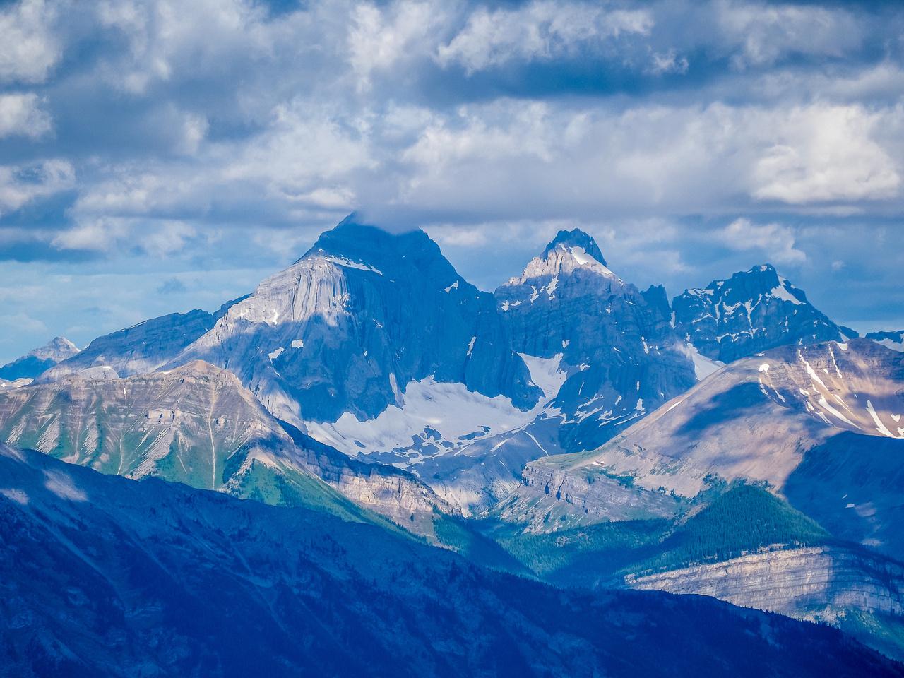 Mount Cadorna, Battisti and Stilleto Peak.