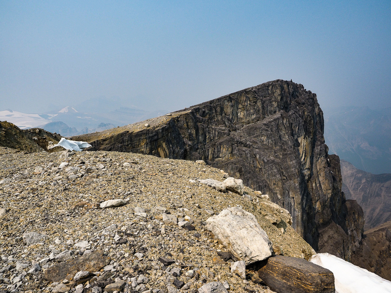 The summit from the false summit.