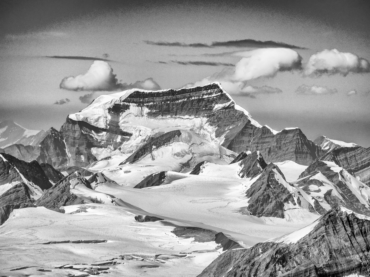 Mount Clemenceau is one of four peaks in the Canadian Rockies over 12,000 feet high.