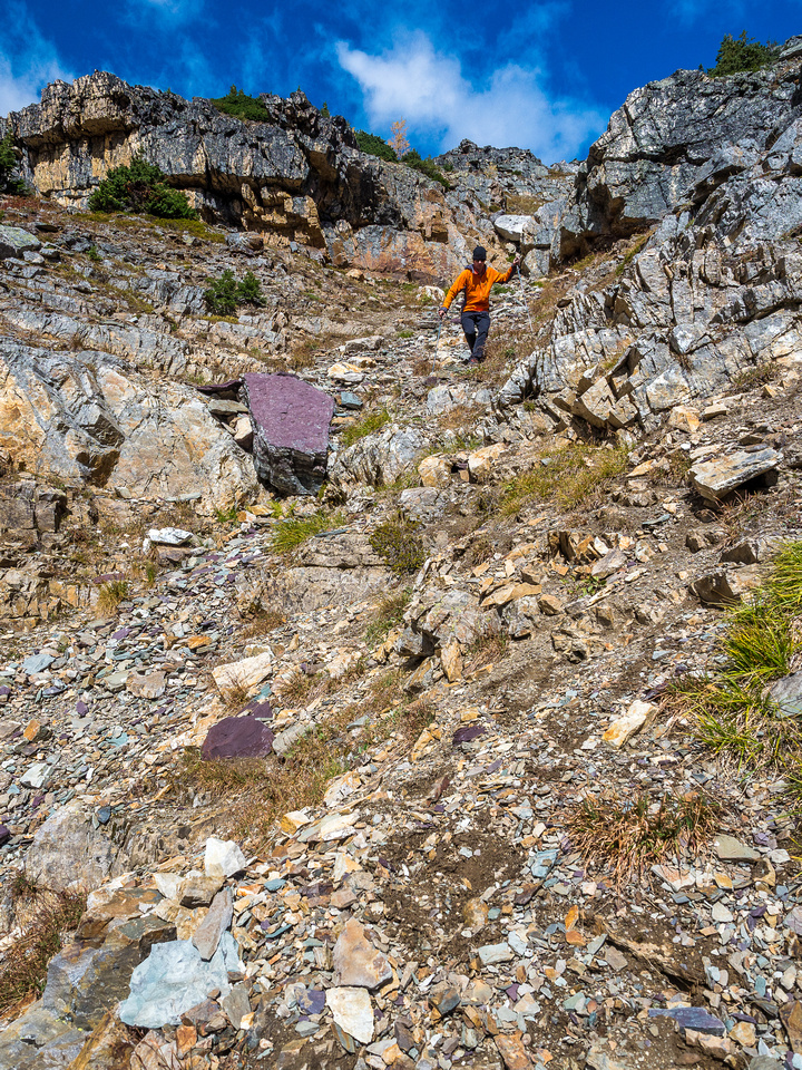 Phil was enthralled with the purple rocks here. It was sort of weird but I let him go through that experience.