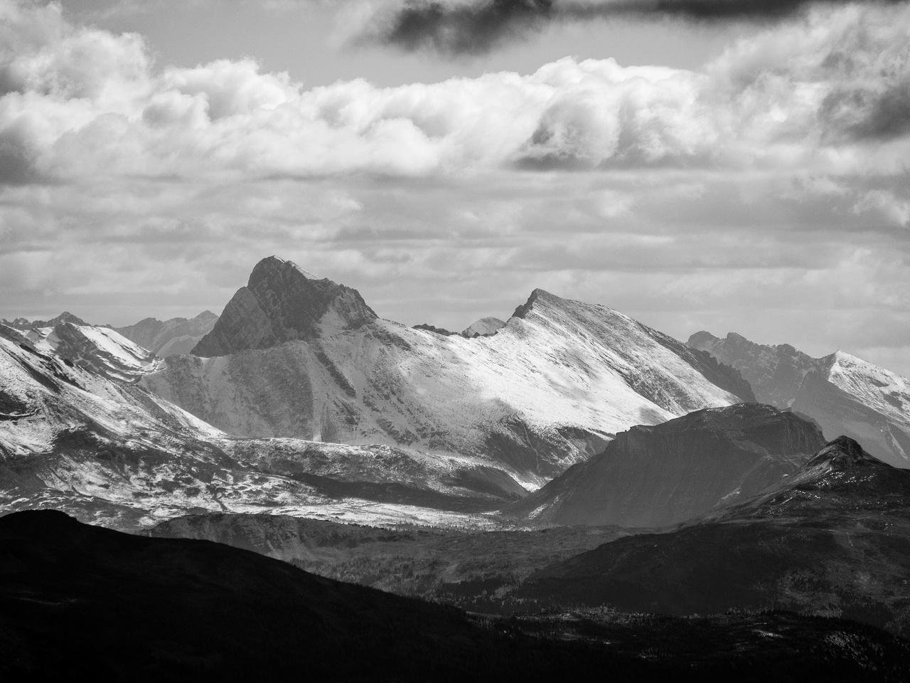 Golden, Naswald and Citadel peaks.