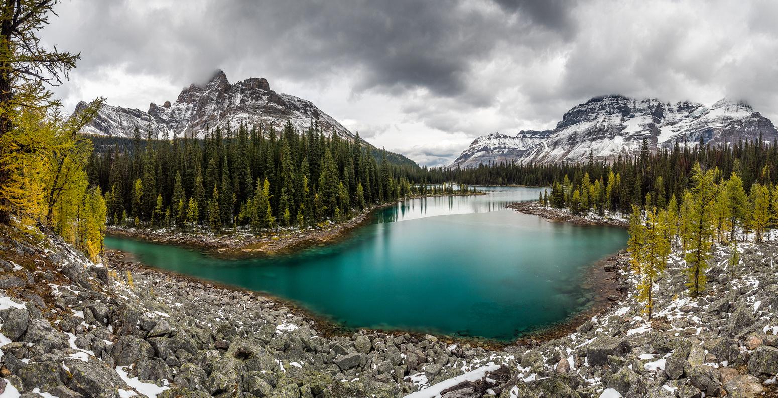 Stunning color of Linda Lake.