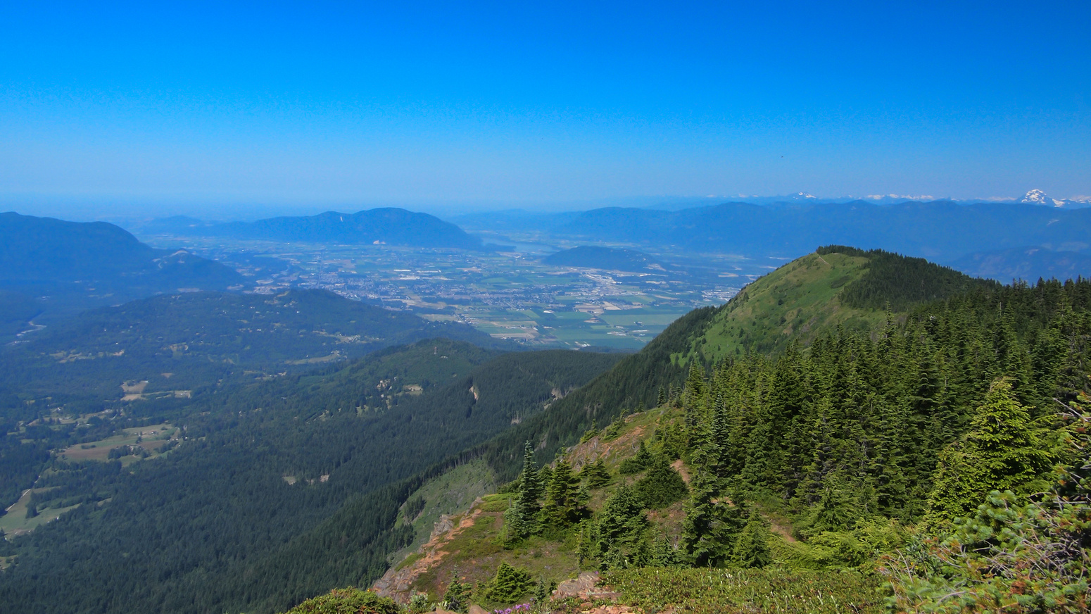 Looking back at Elk Mountain from near the middle bump. Chilliwack in the background.