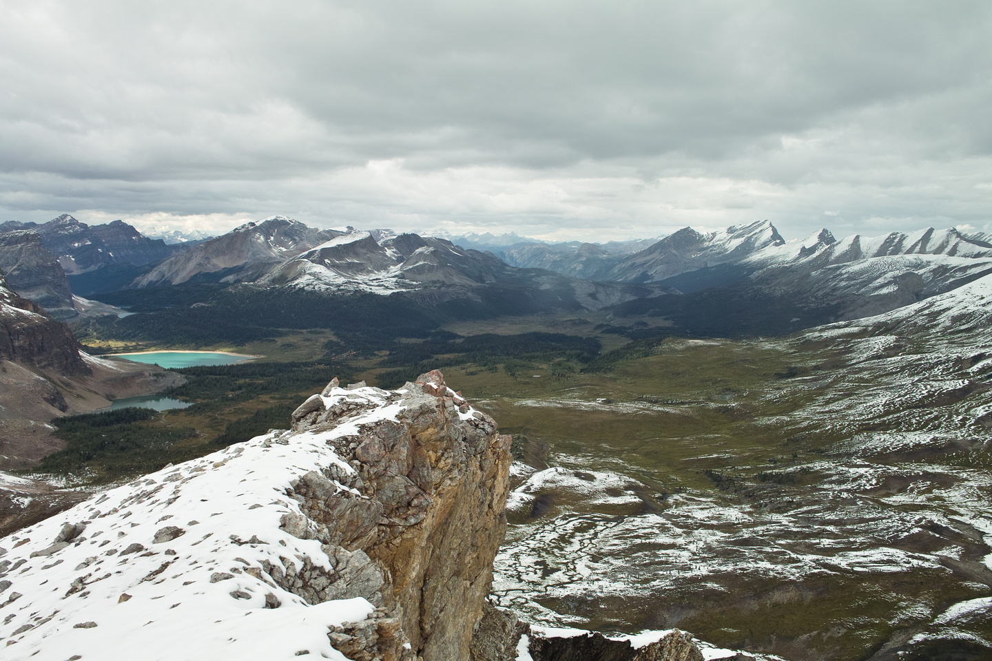 Looking north off the ascent ridge.