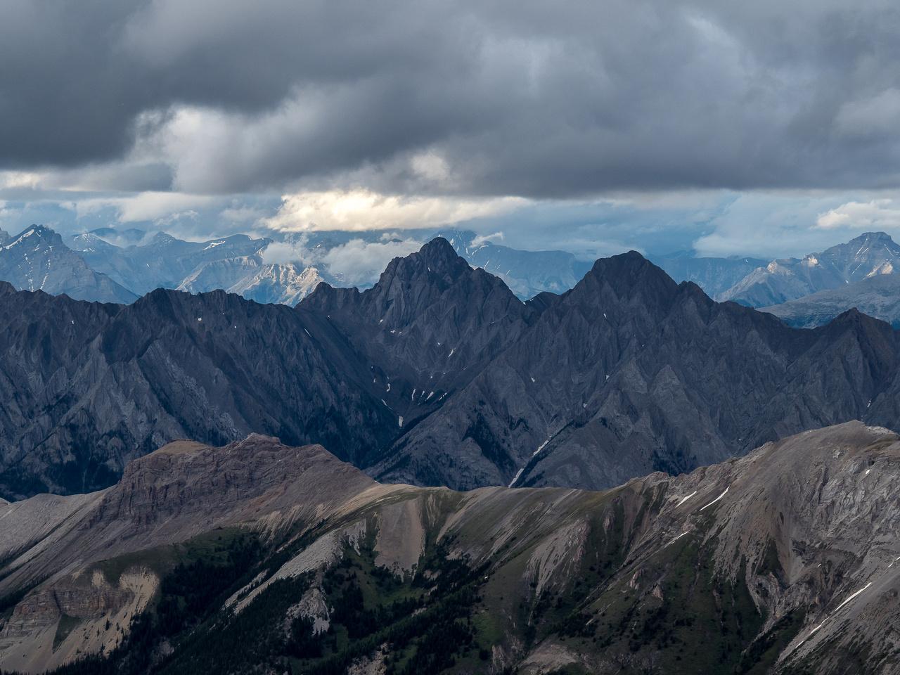 Sundance Peak (C) is the highest peak in that range.