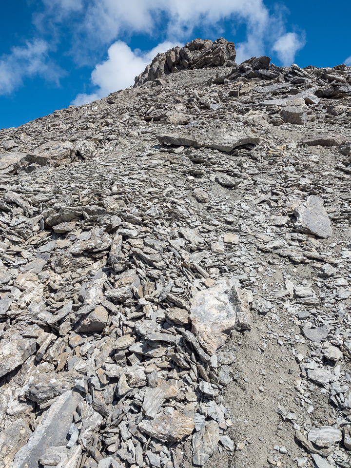 Not quite there yet. The summit block is easily ascended by skirting it on the left before taking a direct line up.