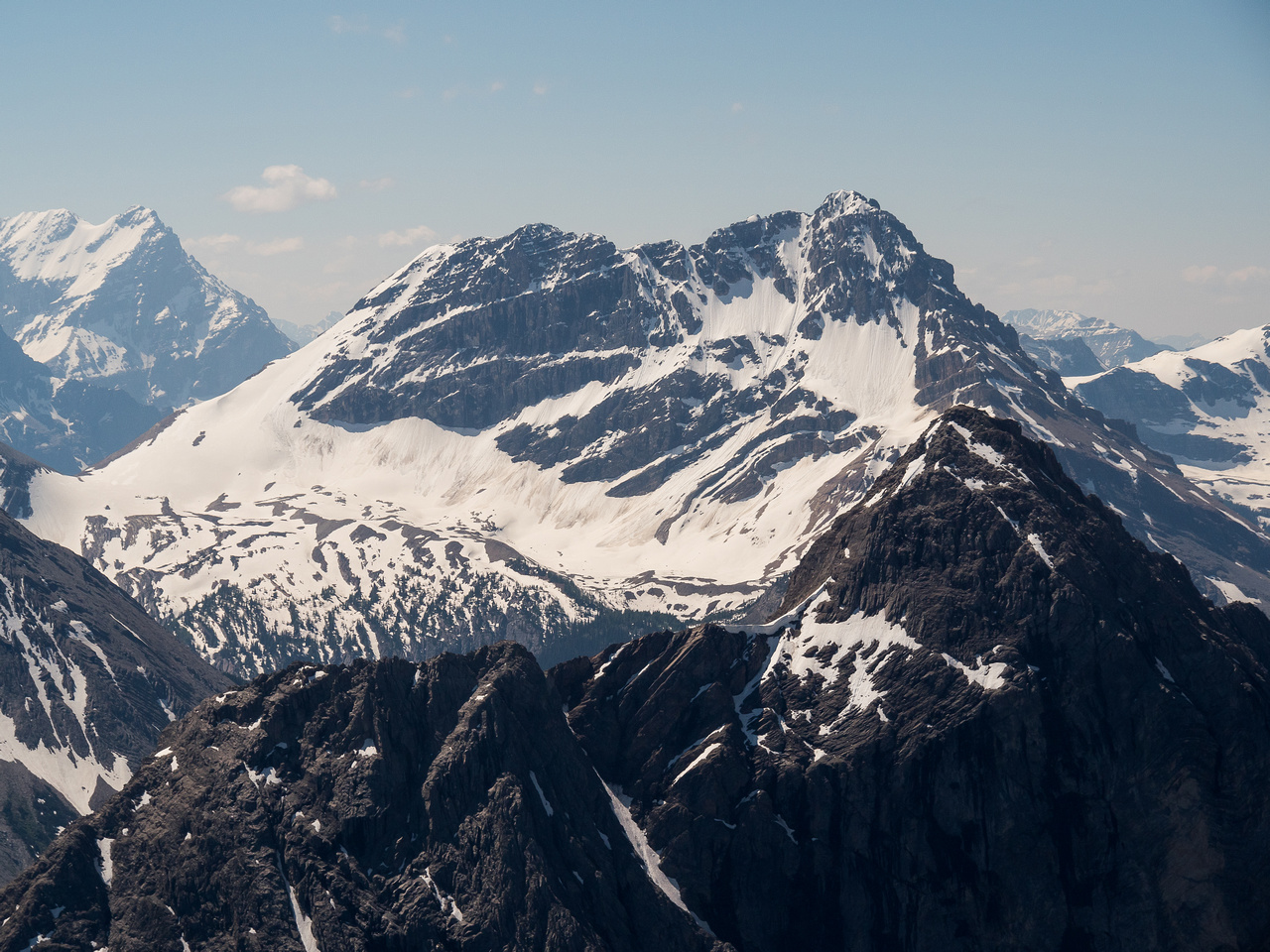 White Man Mountain looms over an outlier of Mount Currie.