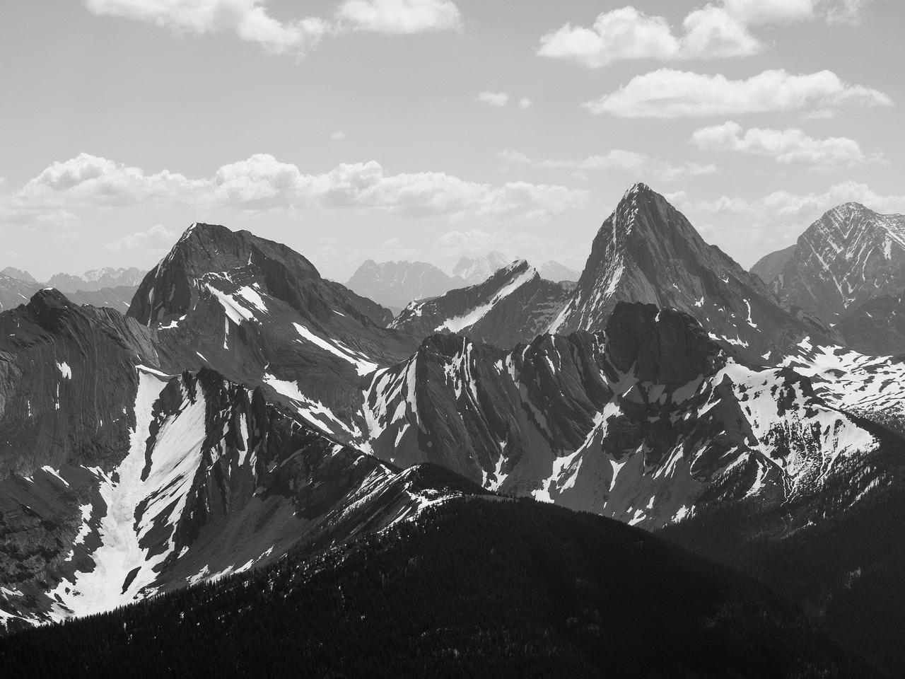 Mount Smuts and Birdwood.