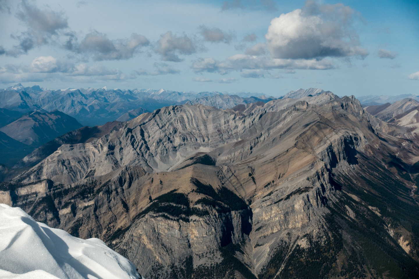 Looking over Spectral Peak and the Sawback Range.