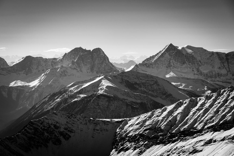 Tumbling Peak at right and Hewitt Peak at left.