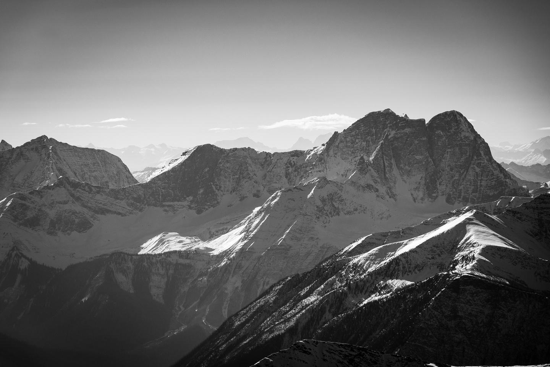 Hewitt Peak with it's north glaciers.