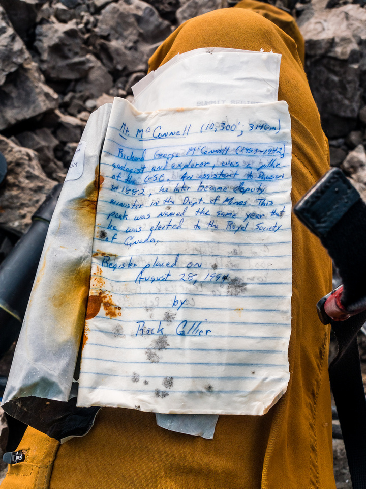Yet another sopping wet summit register. At least Rick used a pen which made his entry easier to read and document.