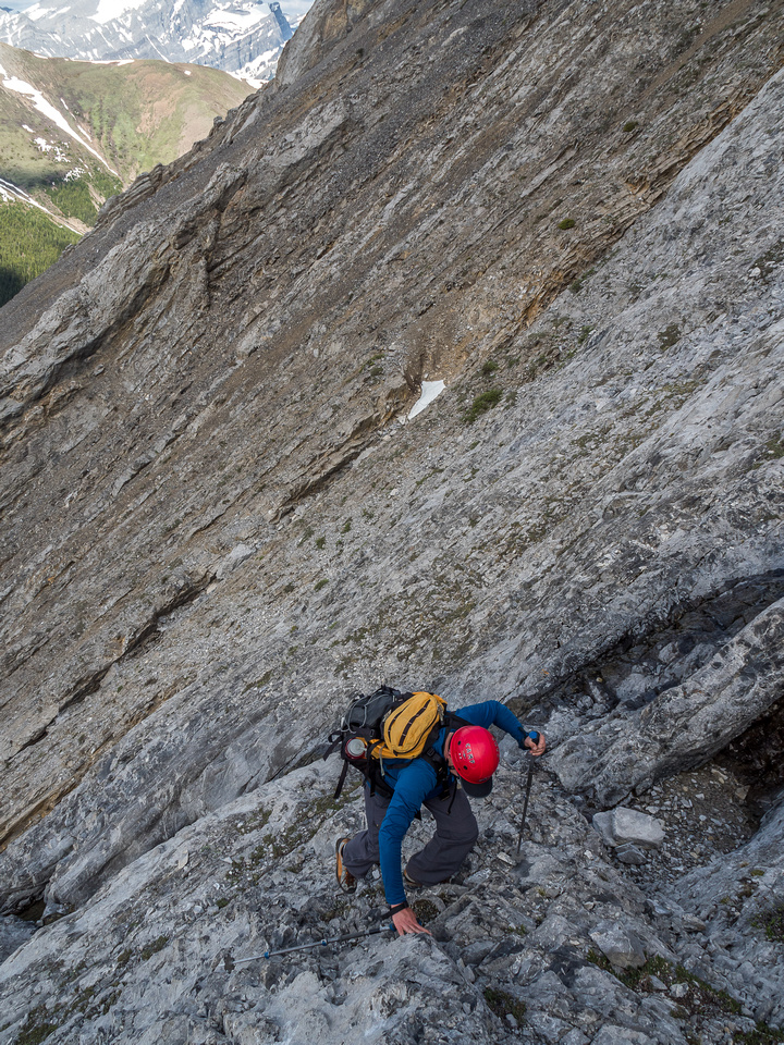 Parts of the SW face are very quick to ascend on nice, moderately angled slabs.