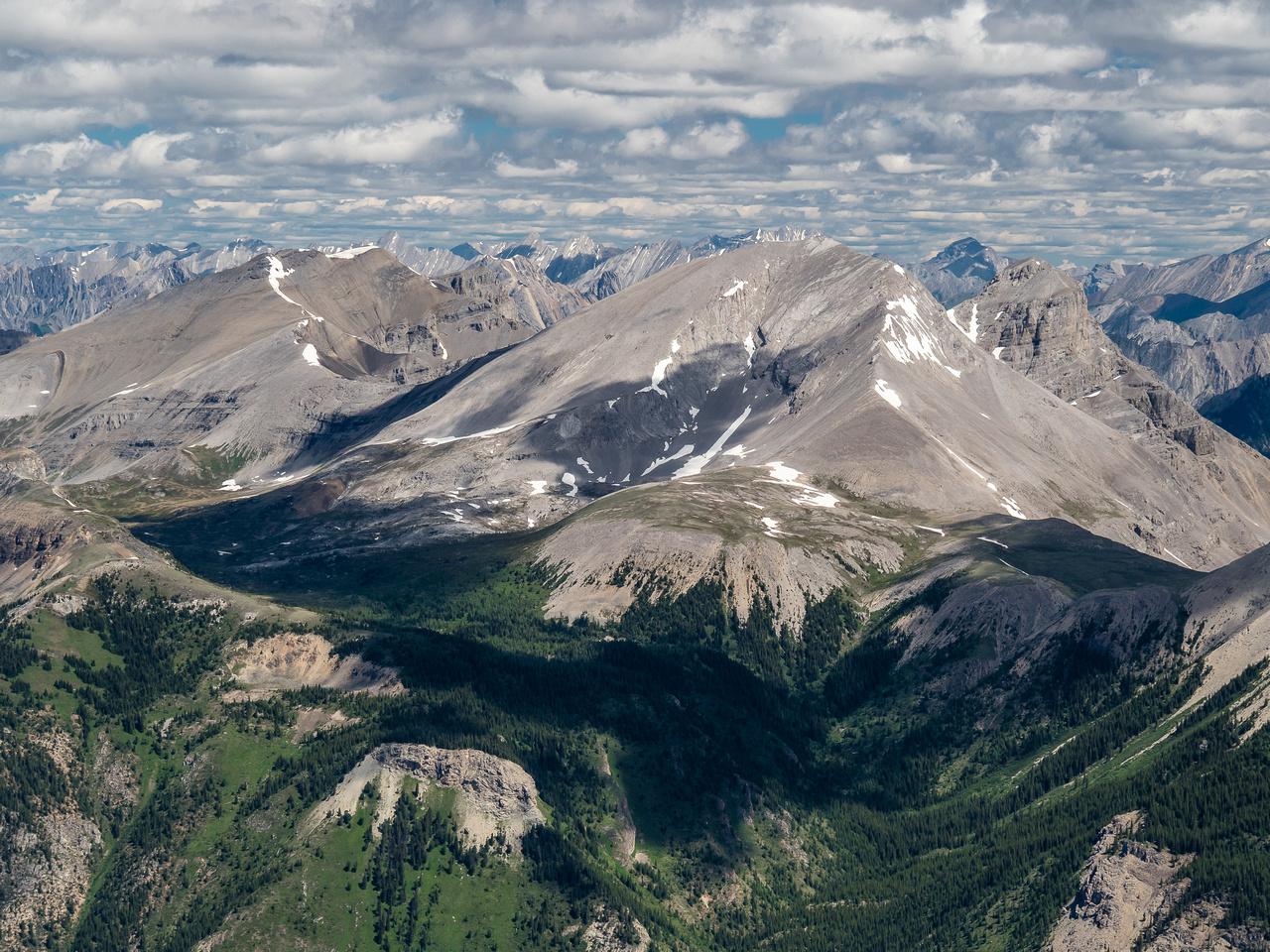 """""""Little"""" and """"Big"""" Fatigue Mountain lie across Citadel Pass."""