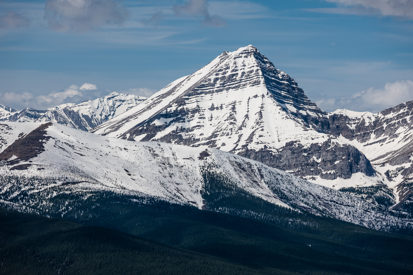 Mount McPhail is easy and quick from a camp at the McPhail Creek headwall. I blasted up and down it in 3 hours and enjoyed the views from the summit immensely.