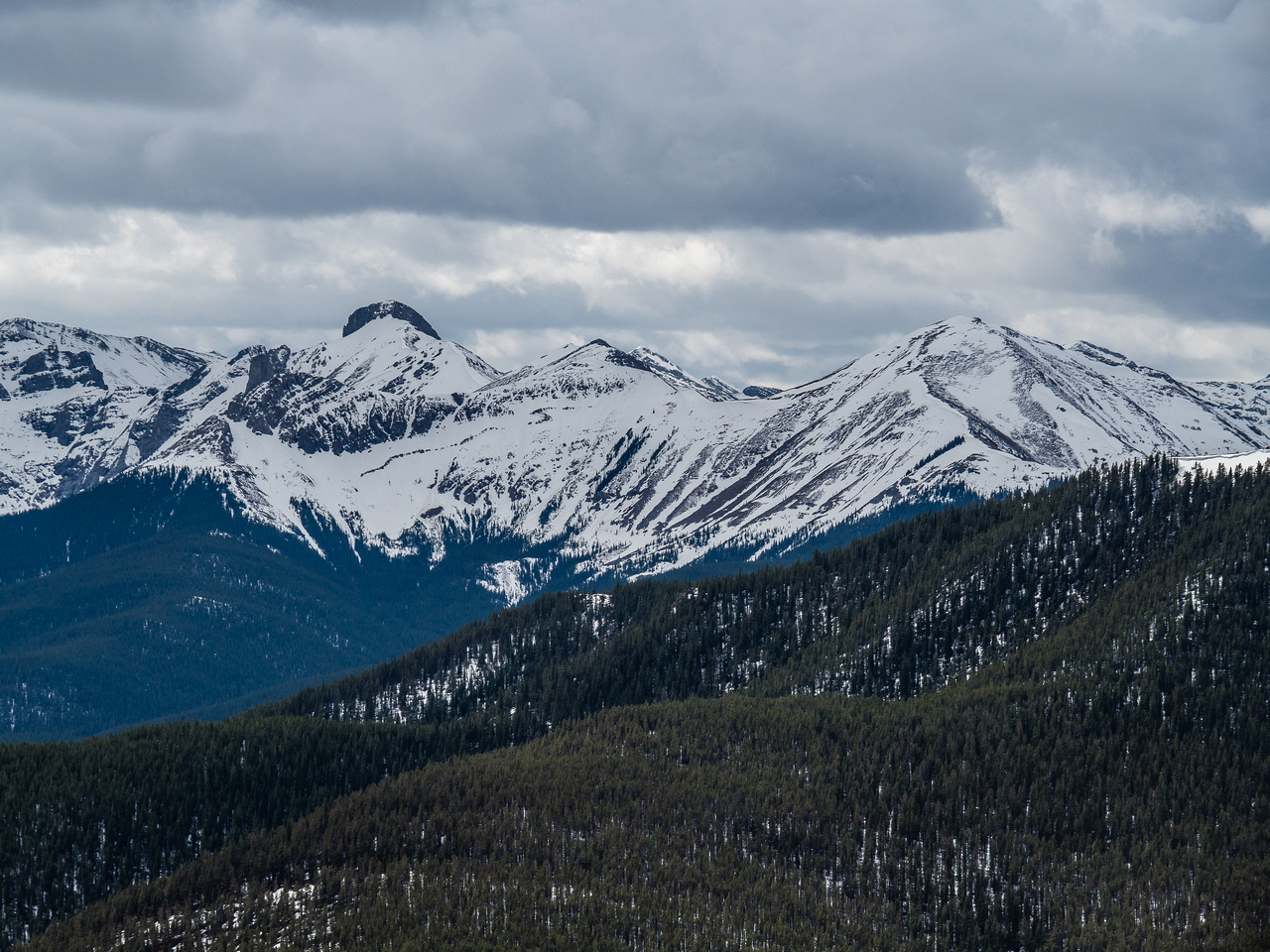 Belmore Brown, Tiara, Boundary Ridge and Boundary Peak from L to R.