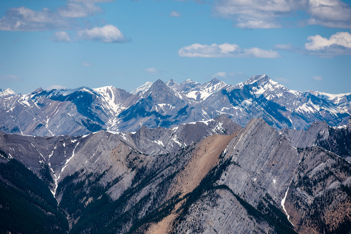 The Fairholme Range includes Fable, Townsend, Stenton and Cougar Peak which I stood on yesterday.