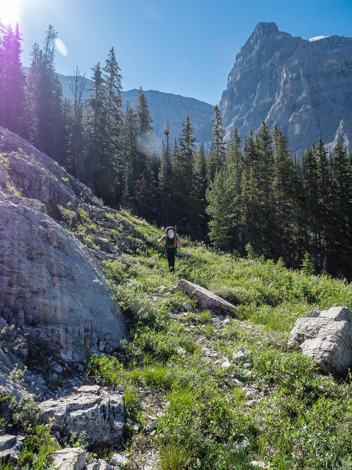 Wild hiking in a pristine backcountry setting in the Rockies. What could be better than this? Not much. Well, maybe not having a migraine would be nice.