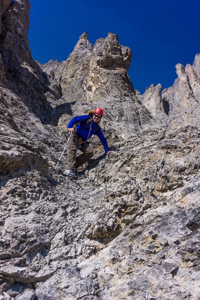Wietse having fun in the gully