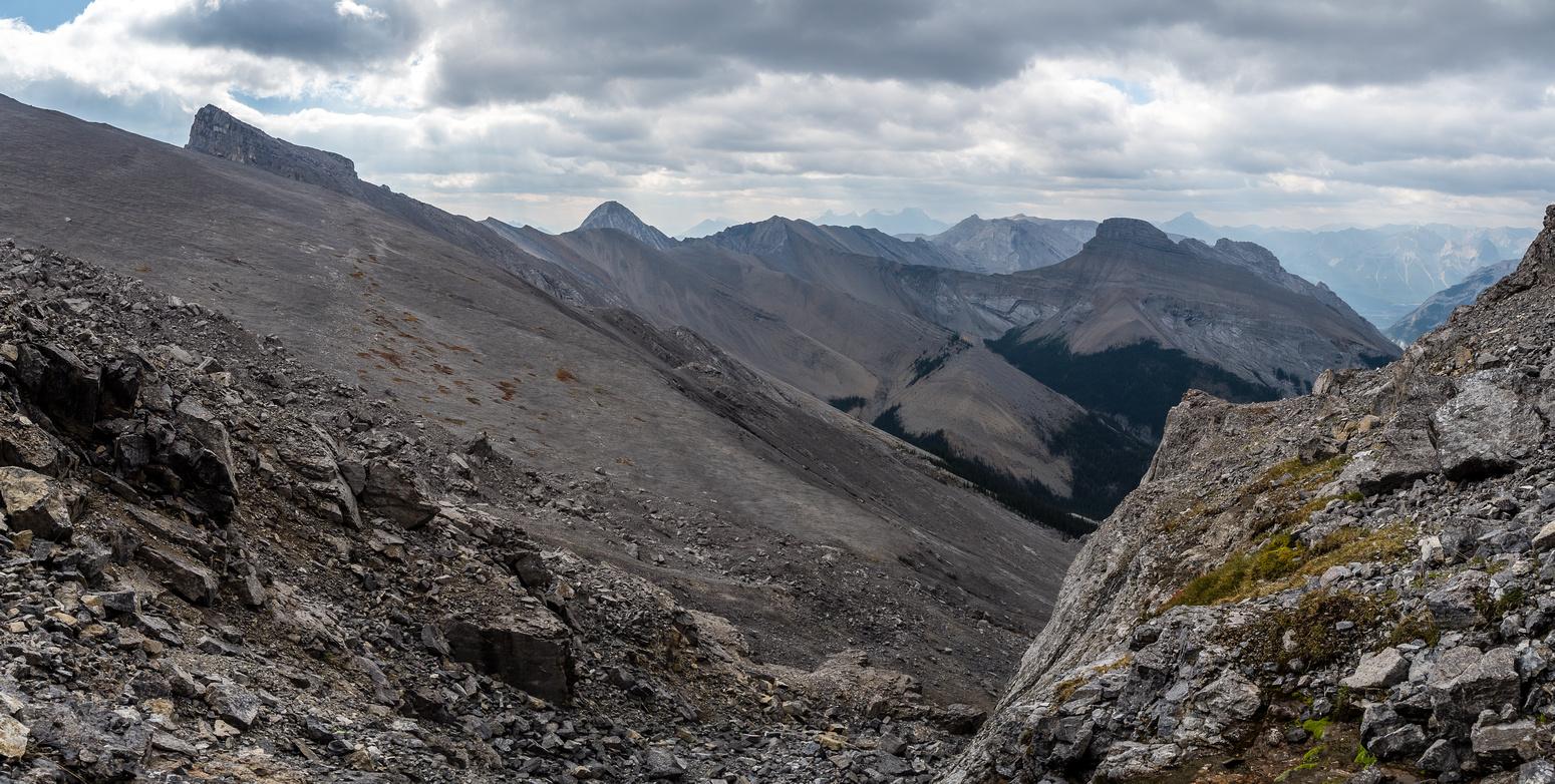 Descending Townsend's summit block.