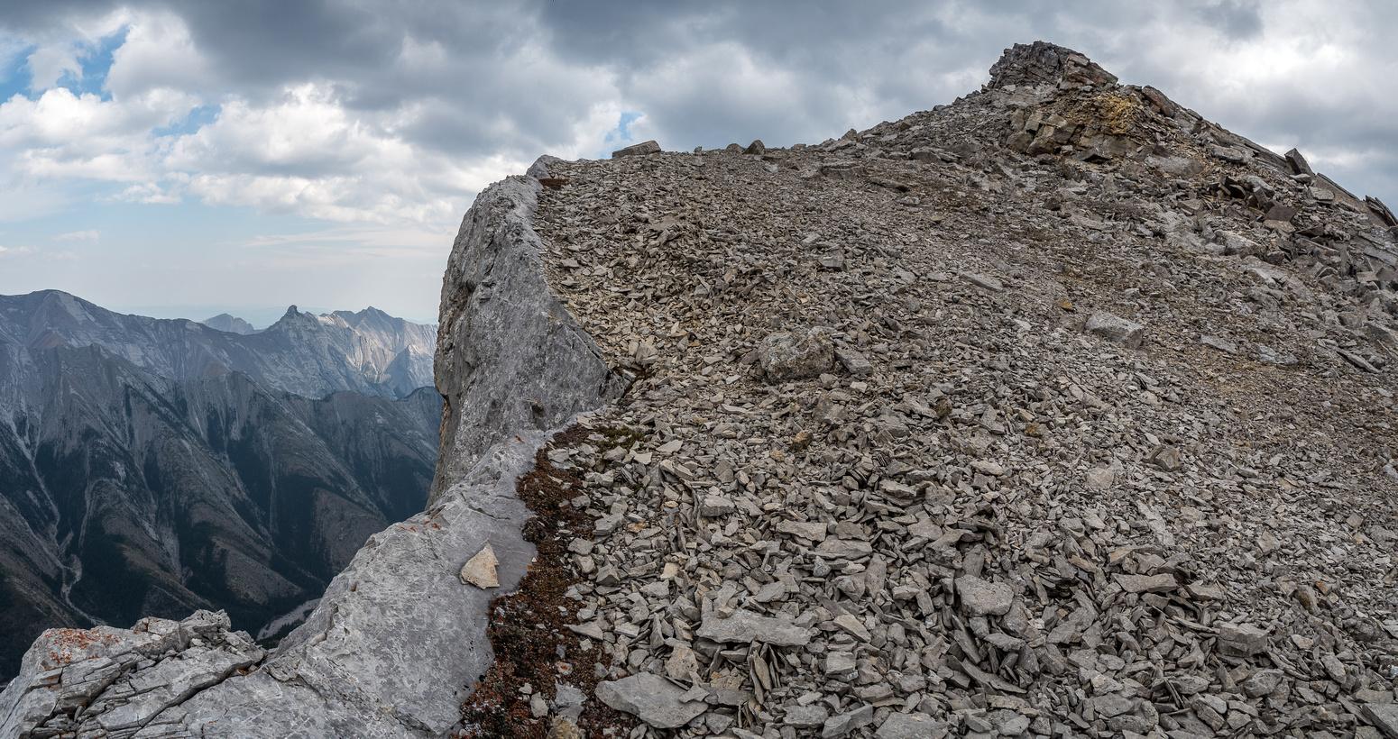 Interesting terrain near the summit.