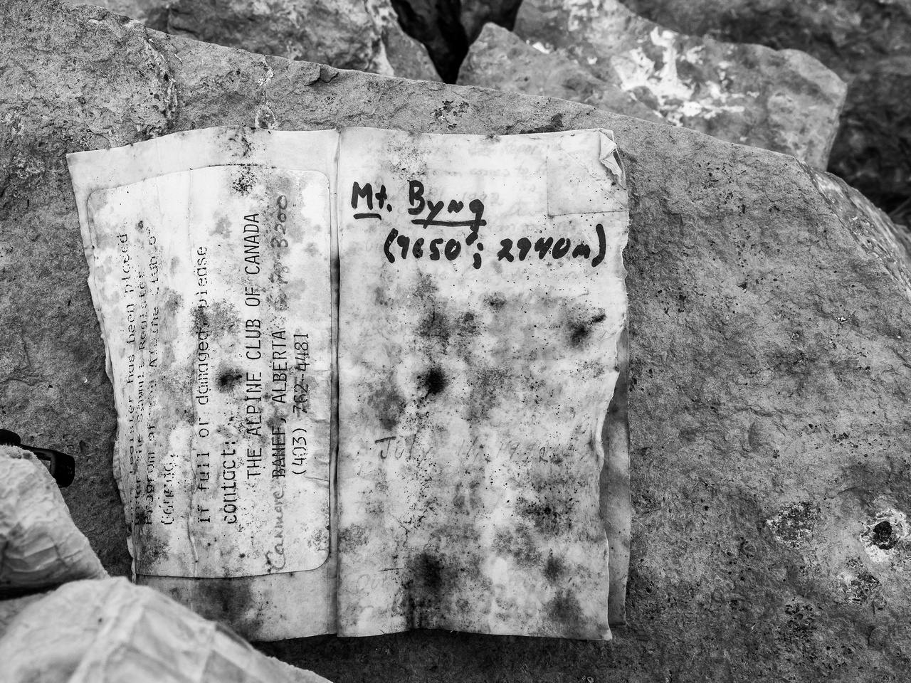 Unfortunately the summit register is yet another soaked Collier one. I'm not sure why, but I've encountered a TON of these this year. Which is a shame because they're illegible and pretty much ruined.