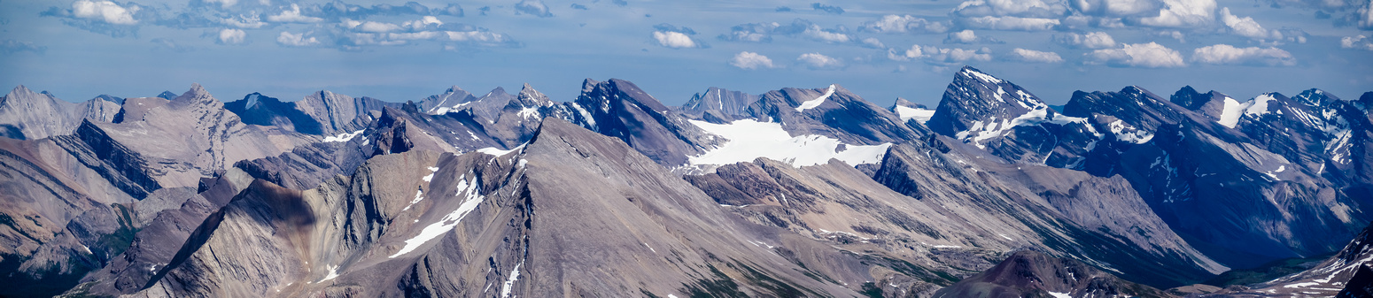 The Three Brothers (Deluc) and Cataract Peak area.