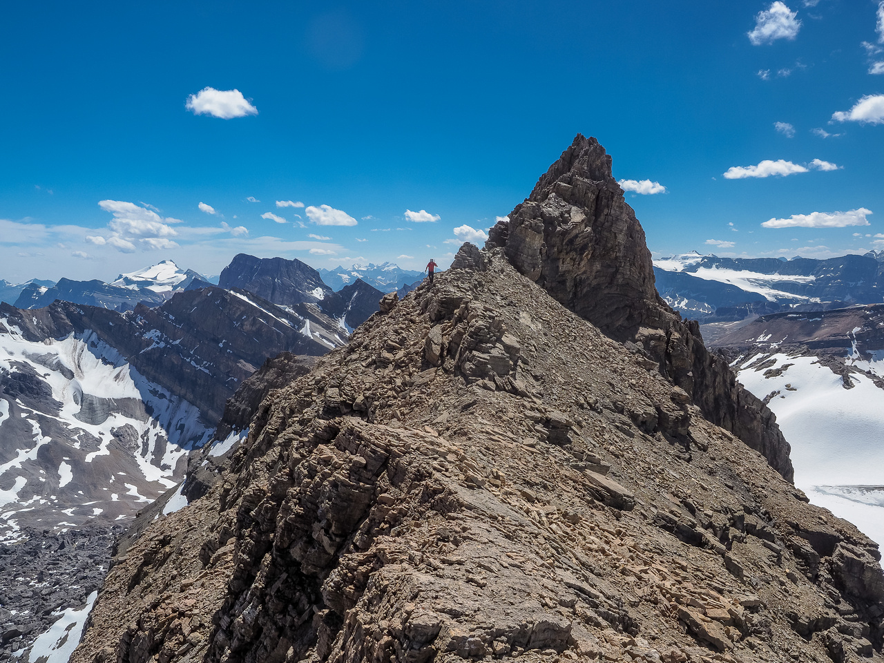 As you can see, the south ridge is pretty intense if you stick on the crest - or even on either side.