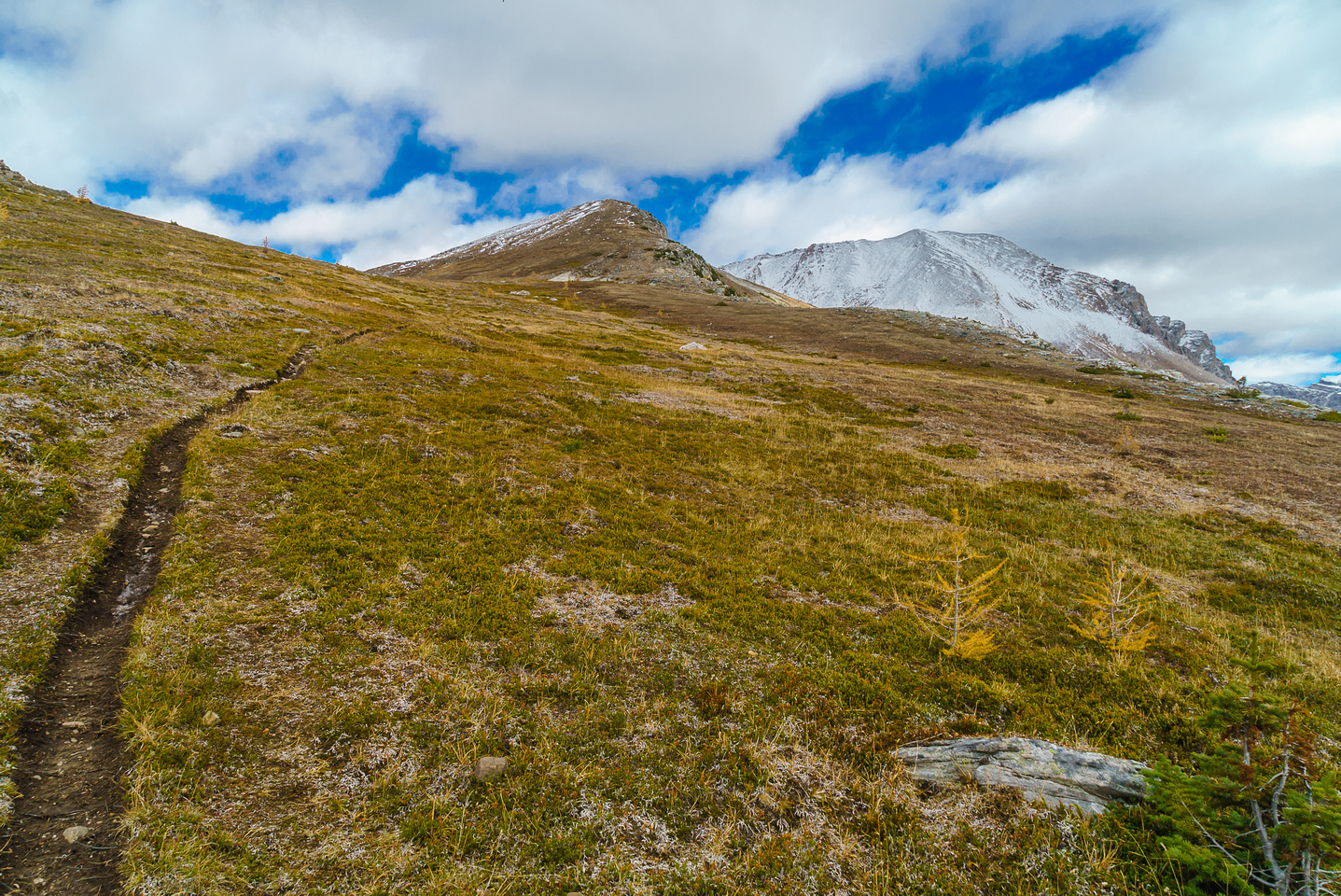 Looking back up at Packer's Pass Peak.
