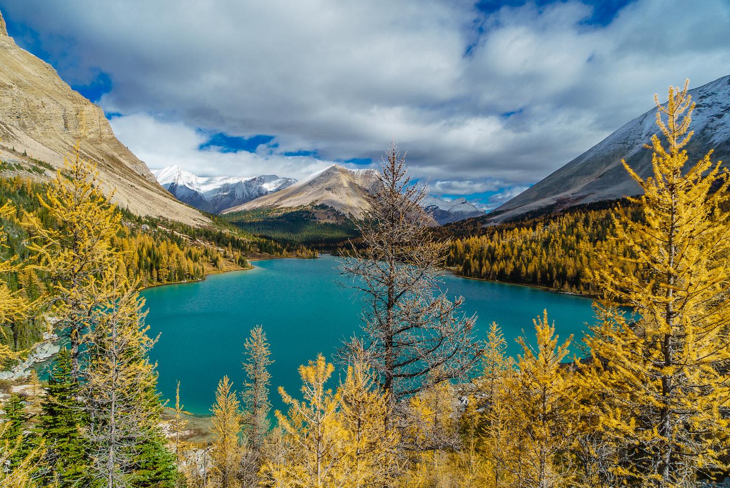 Beautiful view of Myosotis Lake from near Zigadenus Lake.