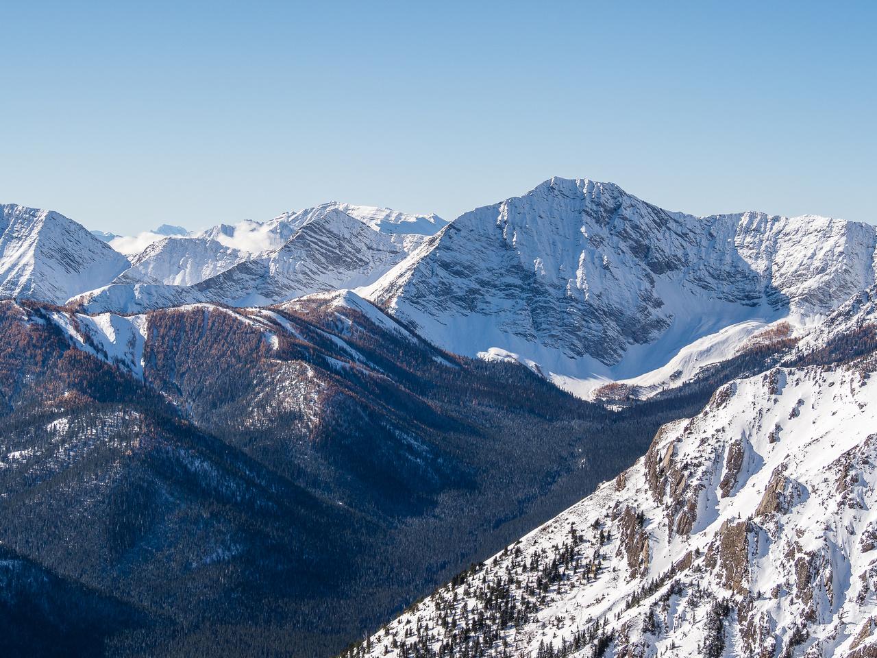 Looking west towards Mount Odlum.
