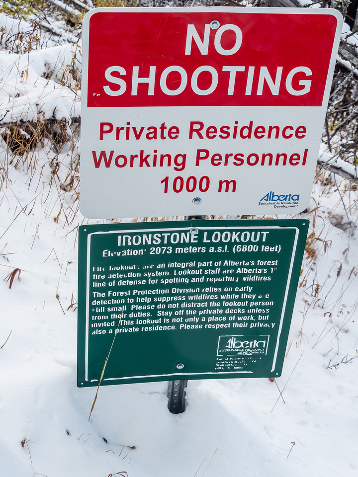 Interesting that this the sign they have to post near the summit! NO SHOOTING implies that people were regularly shooting here before?