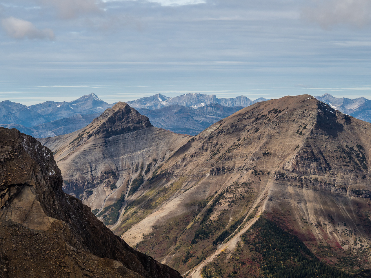 Krowicki (L) and Miles (R) are a combined day trip that involves losing height over Middle Kootenay Pass.