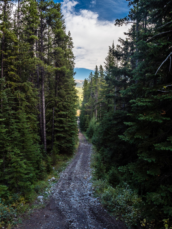 Most of the OHV trail is easily bikeable and would be a very quick exit thanks to its elevation losses.