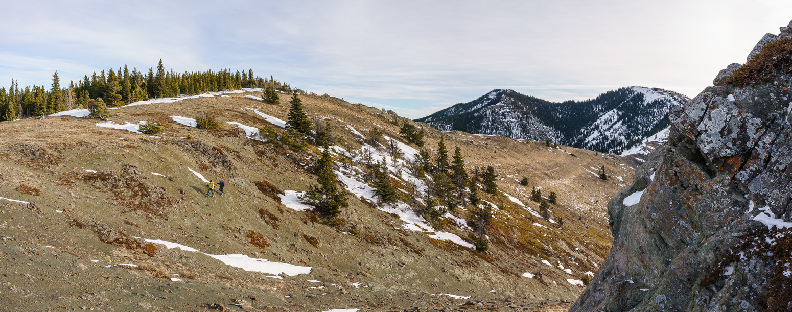 A glance back at Zephyr Creek Hills at the end of Miller Creek Ridge as I ascend yet another bump on the way back.