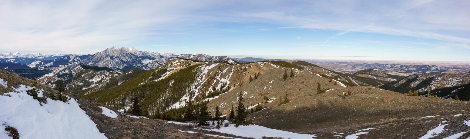 Descending Miller Creek Ridge as the shadows grow long.