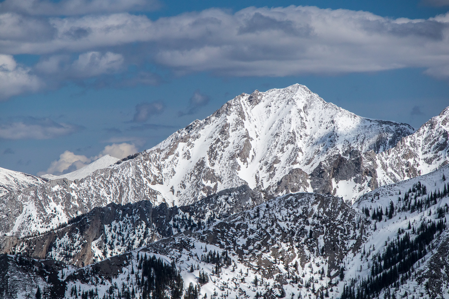 It took me three tries to bag Sentry Mountain in winter. That's a lot of driving for one peak!