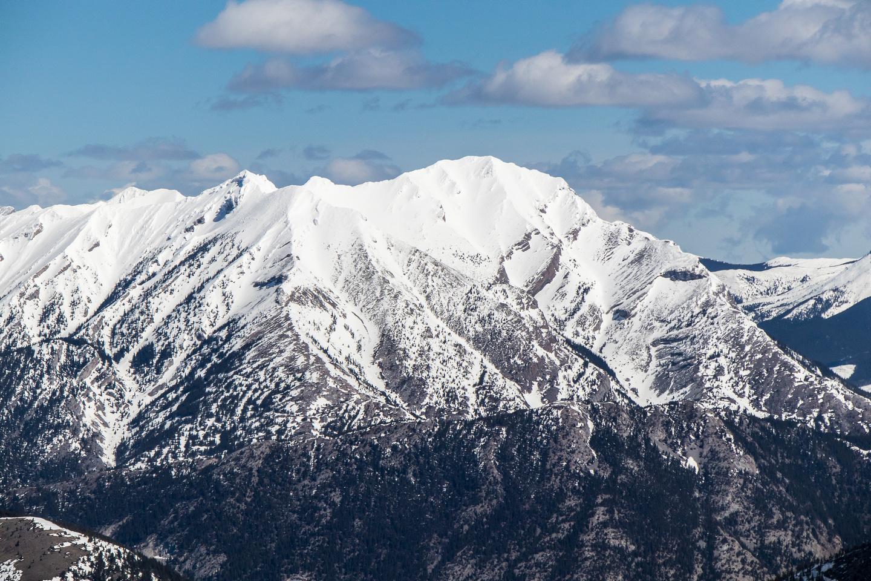 Phillipps Peak and Mount Tecumseh.