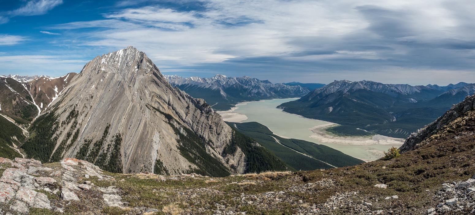 Elliot Peak with Abraham Lake.