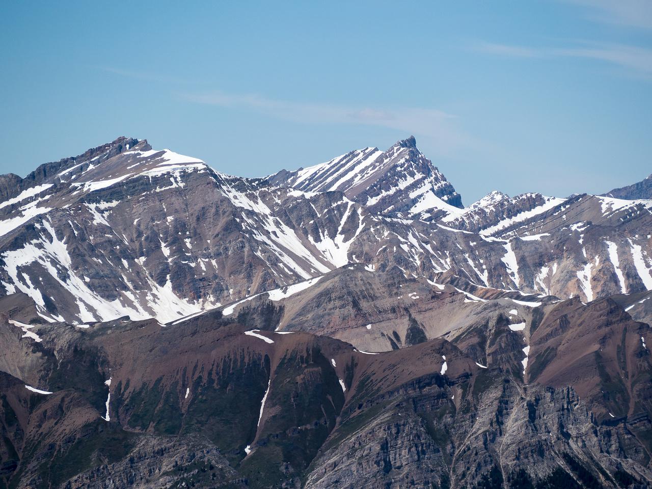 A striking peak to the NW.