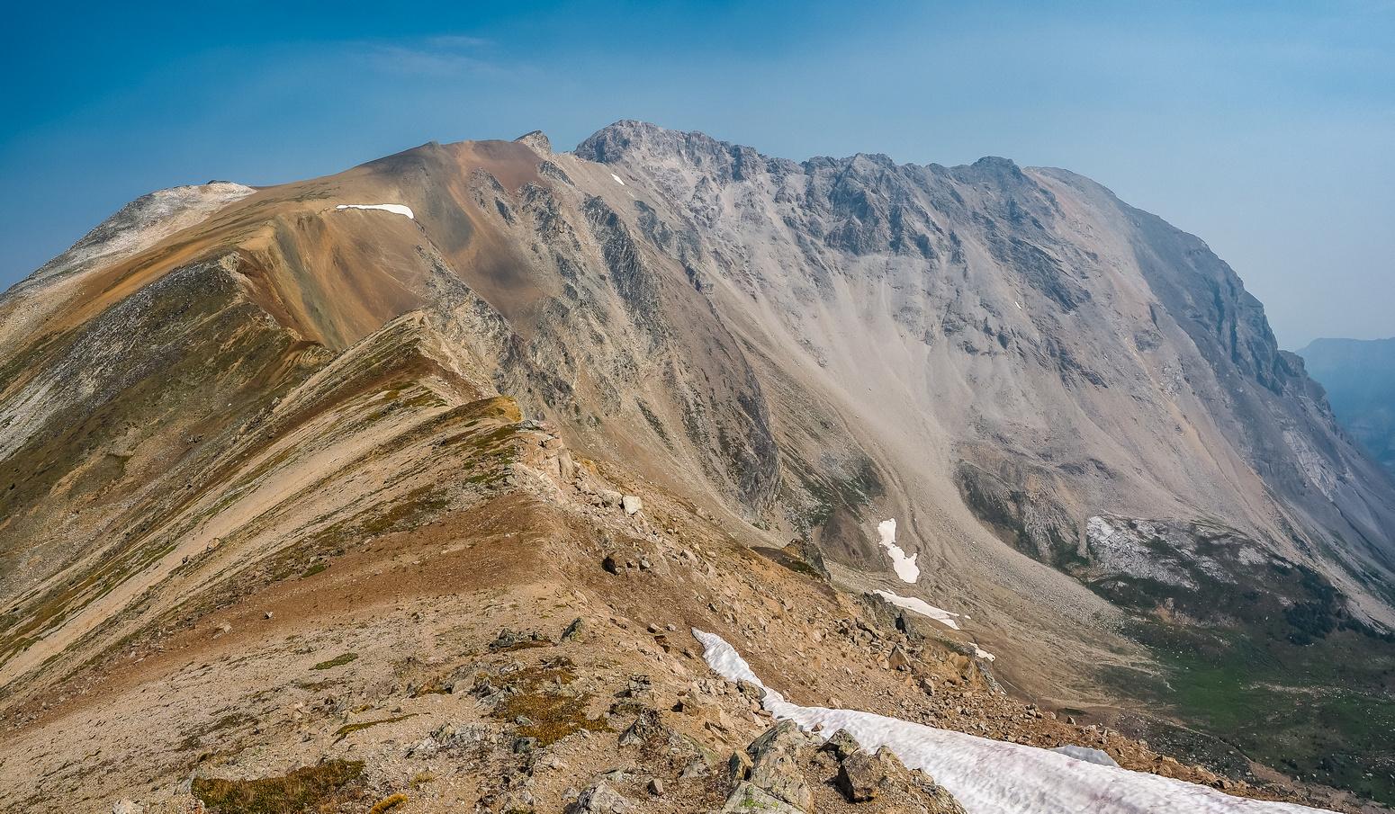 Looking back along the ridge towards Black Brett - I've come a long way already.