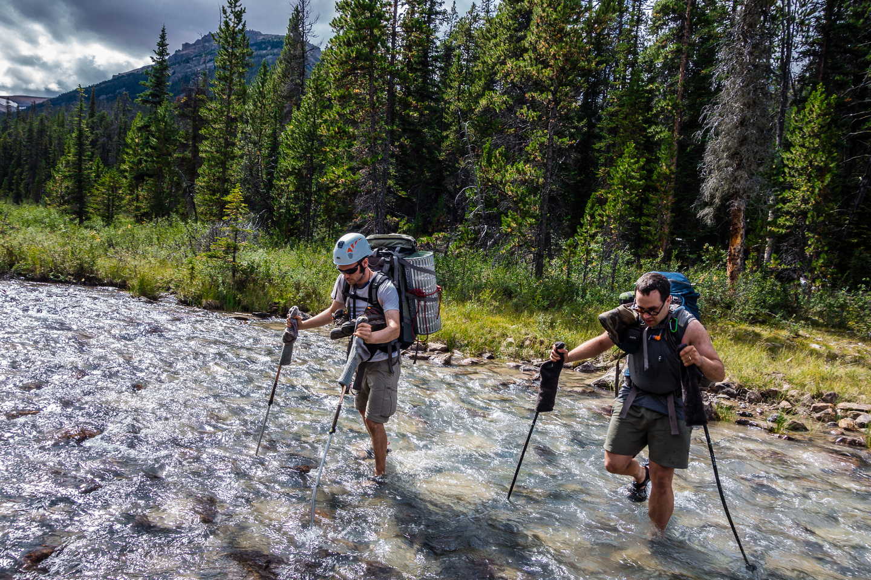 Crossing Dolomite Creek.
