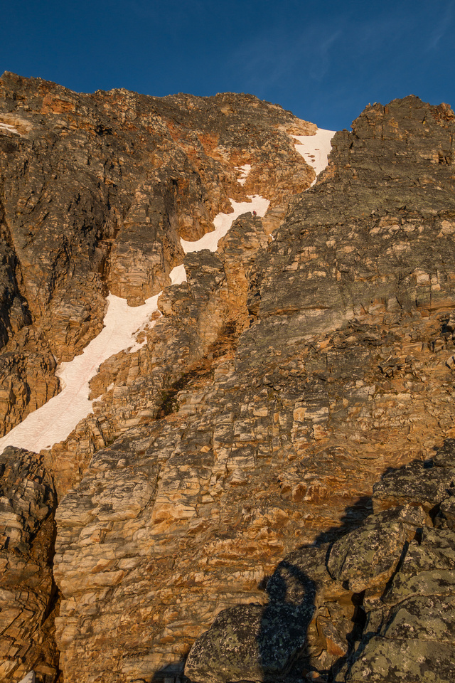The scramble section is still over 500 meters of height gain - don't under estimate it.