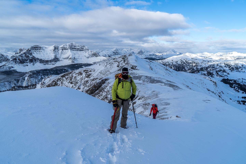 On the ridge, higher than Quartz Ridge now.